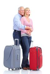 Senior couple travelers