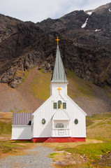Historic Norwegian Church, South Georgia Island, sub-Antarctica.