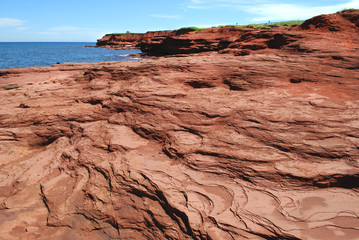 Red rocks of Cavendish, PEI, Canada