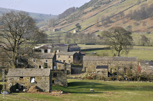 Swaledale landscape in Yorkshire Dales National Park