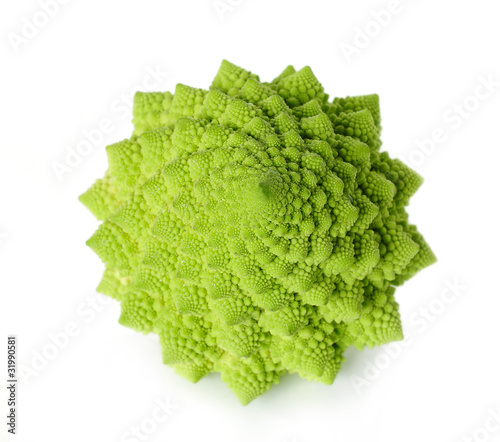 Romanesco isolated on white