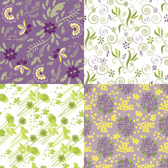 Matching Floral Pattern Swatches