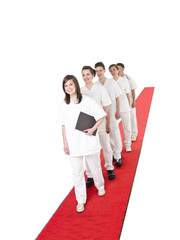 Medical Team on a red Carpet