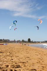 Kite Surfing At The Beach