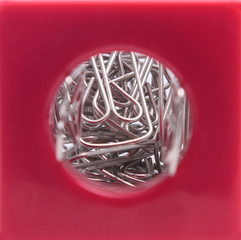 Paper Clips In A Container
