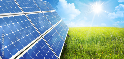 canvas print picture solar panel