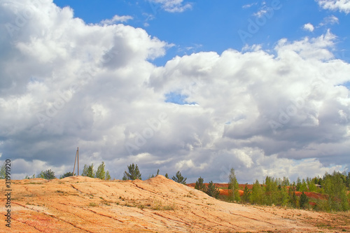 Refractory clay deposit near the village of Aprelka Kemerovo reg