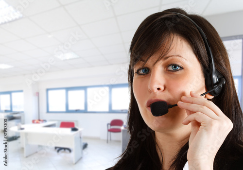Female phone operator