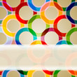 abstract background with transparent circles