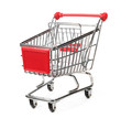 metal shopping trolley