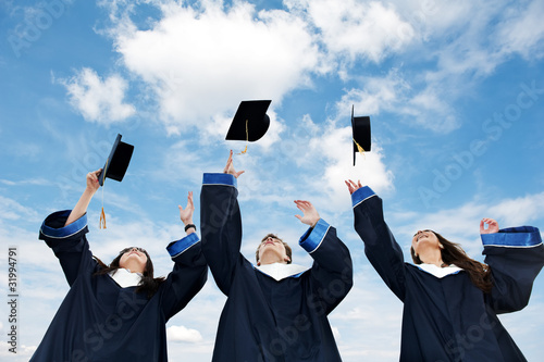 Leinwanddruck Bild graduate students