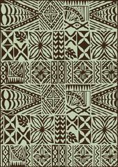 Ethnic Pattern Batik Seamless Fabric