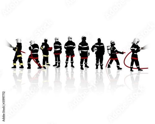 Fototapete Feuerwehrmann - Brand - Poster - Aufkleber