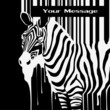 the abstract vector zebra silhouette with smudges barcode