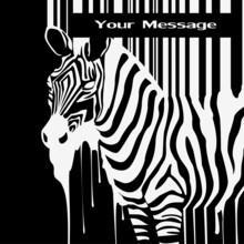 Zebra streszczenie sylwetka smugi z kodem kreskowym