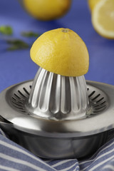 Lemons and squeezer