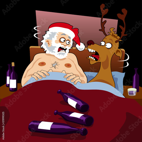 Santa Claus has a rude awakening