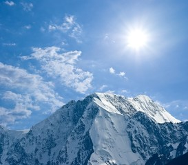 snowbound mountain top