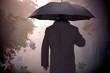 Mann mit Schirm