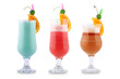 Three decorative coctails