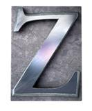 Typescript upper case Z   letter poster