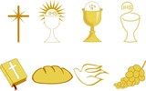 Golden Symbols of of Christianity