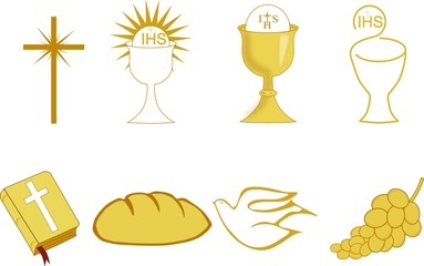 Golden Symbols of of Christianity