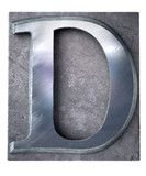 Typescript upper case D   letter poster