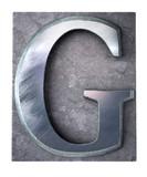 Typescript upper case G   letter poster