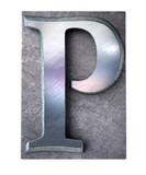 Typescript upper case P   letter poster