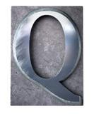 Typescript upper case Q   letter poster