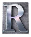 Typescript upper case R   letter poster