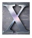 Typescript upper case X   letter poster
