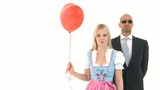 Woman in Dirndl with Bodyguard poster