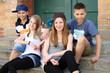 Leinwanddruck Bild - Jugendtreff