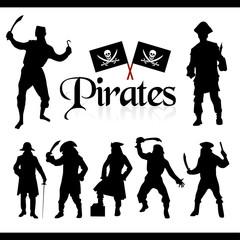 pirates silhouettes