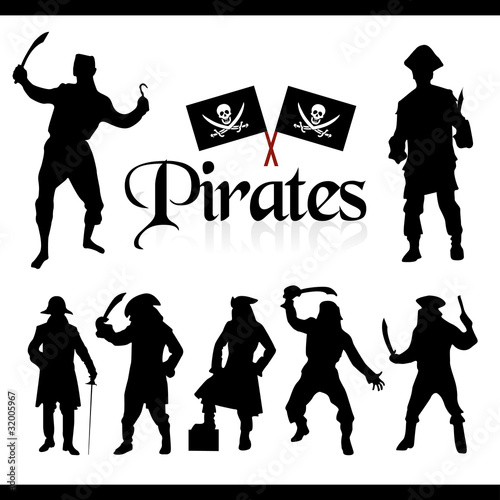 pirates silhouettes