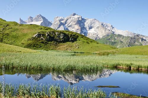 Fototapeten,bergsee,sommer,alpen,berg