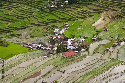 village et rizières