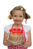 Fototapety Mädchen hält einen Kuchen 1