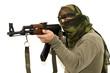 Krieger mit AK-47