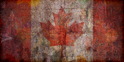 Grunge Canadian Flag