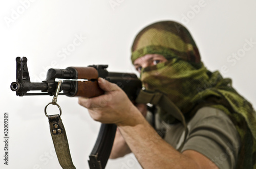 Rebel fighter with Ak-47