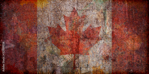 Grunge Canadian Flag
