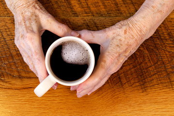 Arthritic Hands & Coffee Cup