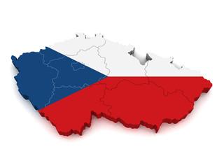 3D Map of Czech Republic