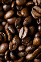 Coffee roasted beans background