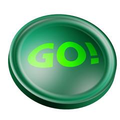 Pulsante verde Vai - Go green button