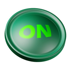 Pulsante verde Accensione - On green button