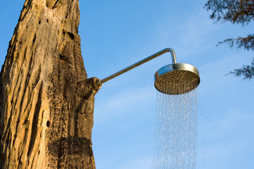 Shower on blue sky
